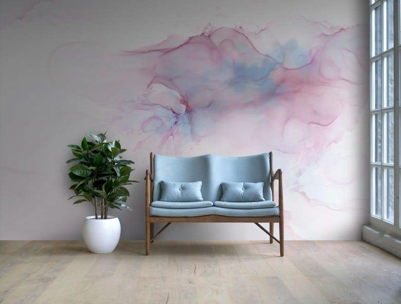 watercolor-wallpaper-in-a-minimalist-room