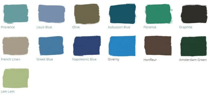 colour palette- South African Annie Sloan Chalk Paint distributor
