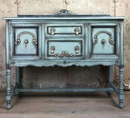 Annie Sloan chalk painted console