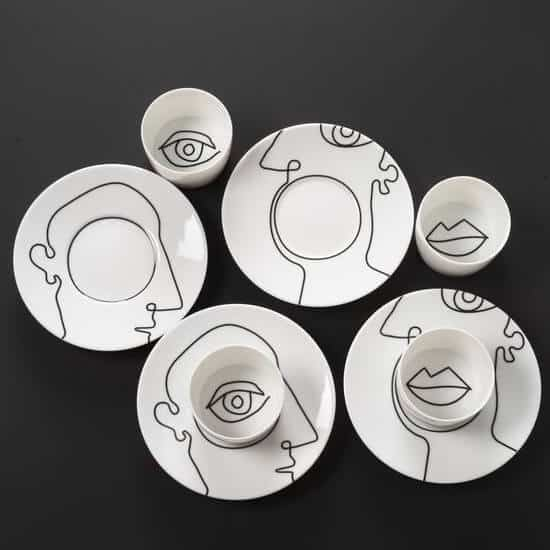 faceline-art-on-plates-utensils