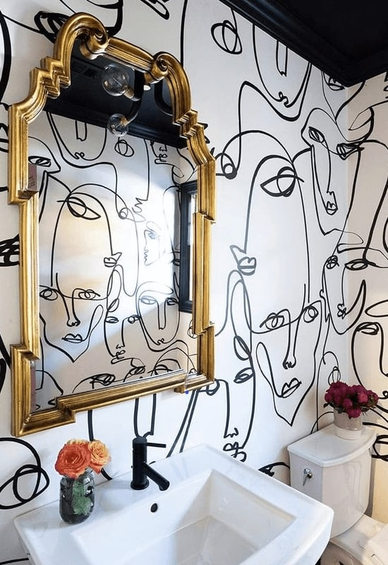 faceline-art-on-wall